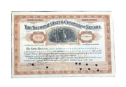 1943 The Tonopah Mining Company Of Nevada Stock Certificate W/ Stamps