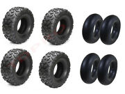 4 Set 145/70-6 4ply Go-kart Mini Bike Atv Lawn Tires Tubes 145x70-6 145x70x6
