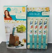The Pioneer Woman Blooming Bouquet Knife Block And 4 Knives And 4 Ct Steak Knife Set