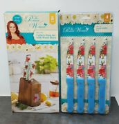 The Pioneer Woman Sweet Rose, Knife Block W/ 4 Knives And 4 Piece Steak Knife Set
