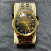 Seiko King Seiko Vanac 5626-7180 Menand039s Watch Brown Dial 9-sided Cut Glass Used