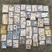 Huge - Mostly Stampin Up Plus Others Lot 600+ Stamps With 4 Mini Alphabet Sets