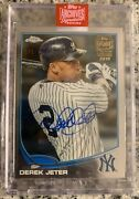 1/1 Derek Jeter 2019 Topps Archives Chrome Yankees Signed Auto Autograph 1/1 Wow