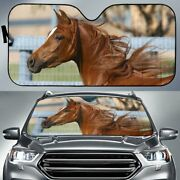 Chestnut Arabian Horse Car Windshield Auto Sunshade