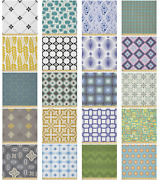 Ambesonne Abstract Shapes Microfiber Fabric By The Yard For Arts And Crafts