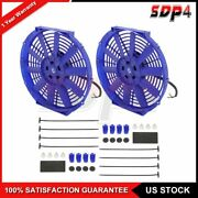 12 Volt Radiator Cooling Fan Universal For 2002-2006 Acura Rsx 2 Pcs 12 Inch