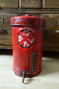 Rare Vintage 1930and039s / 1940and039s Redex Oil Additive Can / Dispenser