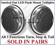 Flat Mount Smoked Out Led Taillights Roll Pan Bumper Custom Chevy Truck F3336s