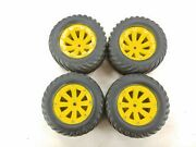 Chevron Tractor Style 1/10 / 1/8 Monster Truck Tires On 13mm Hex Wheels Used