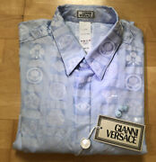 Vintage Nos Gianni Versace 1998 Mens Button Front Shirt With Tags Sz 50.