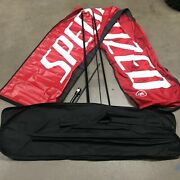 N Specialized Bicycle Bike Advertising Bow Flag Swoop Pit Race Track Wind Banner