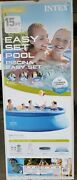 Intex Easy Set Up Pool 15 X 48 Ladder, Mat, Cover And Filter