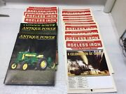 Lot Of Ageless Iron Almanac And Antique Power Magazine Farm Tractor Back Issues