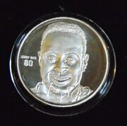 Jerry Rice San Francisco 49ers .999 Fine Silver Round Highland Mint Coin 1/7500