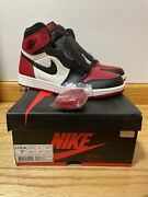 Nike Air Jordan 1 And039bred Toeand039 Menand039s 7.5 Brand New 555088-610 Black Gym Red White