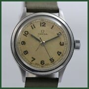 Vintage Omega 2179-4 Military Wwii Cal 30t2 Sc Stainless Steel Mens Watch