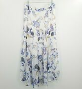 White House Black Market Womenand039s Xl Floral Tiered Maxi Skirt New With Defects