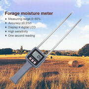 Tk100 Hay Moisture Meter For Forage Grass Testing Fibre Humidity Meter 0-80