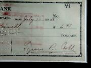 Ty Cobb Signed 1948 Personal Check Beckett Bas Certified Autograph Auto Hof
