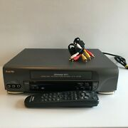 Sanyo Vhr-h-627 Vcr/vhs Video Cassette Recorder Player With Av Cable And Remote