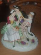 Antique German Carl Ens Dresden Porcelain Figurine Group