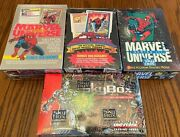 1990 91 92 And 93 Marvel Universe Series Factory Sealed Boxes
