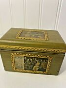 Playing Card Wooden Box Holder For Two Decks Of Cardsvintage Green