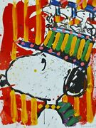 Tom Everhart Why I Donand039t Usure Chapeaux Snoopy Peanuts Andagrave Signandeacutee Lithographie