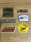 Valuable Coal Mining And Other Stickers In Great Condition