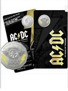 Australia 2018 Ac/dc 45 Years Of Thunder 50c Coloured Unc Carded Coin