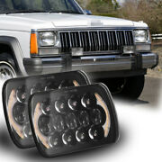 5x7 7x6and039and039 Led Headlights Drl Amber Turn Signal For Jeep Cherokee Xj 1984-2001