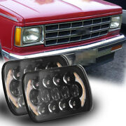 For Chevy S10 Blazer Gmc S15 7x6 Hi/lo Sealed Beam Led Headlight Sequential Turn