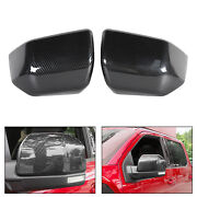 Side Mirror Cover Caps Abs Carbon Fiber Replace For Ford F150 2015-19 Raptor Ca