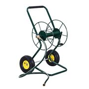 Hose Reel Cart With Wheels Garden Yard Watering Tool Stand Hold 200 Feet Of 3/4