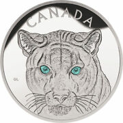 2015 Canada In The Eyes Of The Cougar 250 Kilo Fine Silver Coin