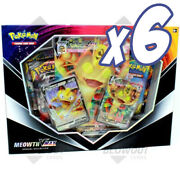 1 X Pokemon Meowth Vmax Special Collection - Full Case 6 Units Pokemon Tins An