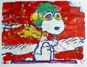 Tom Everhart Low Fat Meal Over Santa Monica Peanuts Snoopy Hand Signed