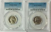 1970 S Jefferson Nickel 5c Pcgs Ms64 And Ms65  2 Coin Set
