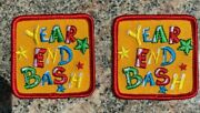 Lot Of 2 Girl Or Boy Scout Year End Bash Fun Patches New And Unused