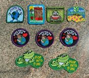 Lot Of 9 Girl Scout Outdoors+earth Day+garden Variety Fun Patches New And Unused
