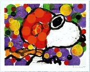 Tom Everhart Synchroniser My Boogie-evening Peanuts Snoopy Main Signandeacutee Litho
