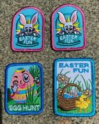 Lot Of 4 Girl Scout Easter Fun Egg Hunt Patches Bunny+egg+chick New And Unused