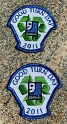 Lot Of 2 Girl Or Boy Scout Goodwill Good Turn Day Fun Patches New And Unused