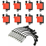 Wireset + Square Ignition Engine Coil For Chevy Silverado Express Avalanche Gmc