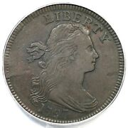 1797 S-139 Pcgs Vf 30 Rev Of 1797 Stems Draped Bust Large Cent Coin 1c