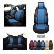 Leatherandfabric Car Seat Covers,cushion Cover For Carssuv Pick-up Truck Universal