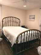 Vintage Brass Bed Queen Size Complete - Halcyon - Brass Beds Of Virginia