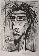 Bernard Buffet Don Quichotte, 1989 - Lithograph On Arches Paper Hand-signed