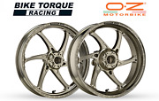 Oz Gass Rs-a Forged Alloy Wheels Ti Colour To Fit Suzuki Gsxr750 K8-k10 08-10