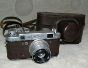 Fed 2 Red Vintage Rare Old Russian Soviet Camera Leica 35 Mm Ussr Rare